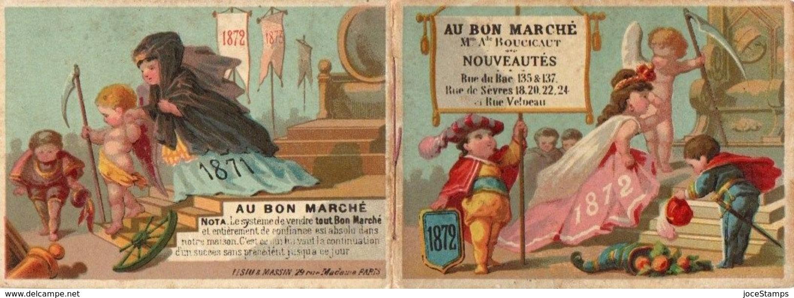 8 Chromos Calendrier De 1872 Complet  Au Bon Marché Paris............. Magnifique - Au Bon Marché