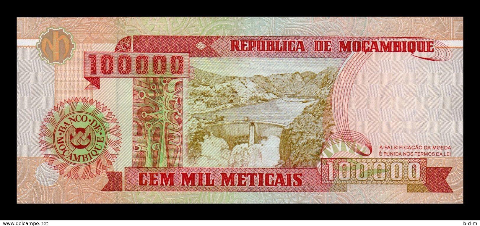 Mozambique 100000 Meticais 1993 Pick 139 SC UNC - Mozambique