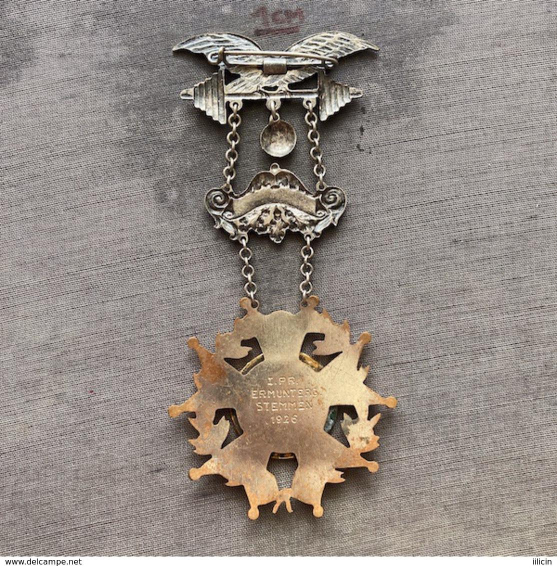 Badge ZN009359 Weightlifting Wrestling Athletics Gymnastics Austria Österreichischen Arbeiter-Athleten-Bund 1911 1926 - Pesistica
