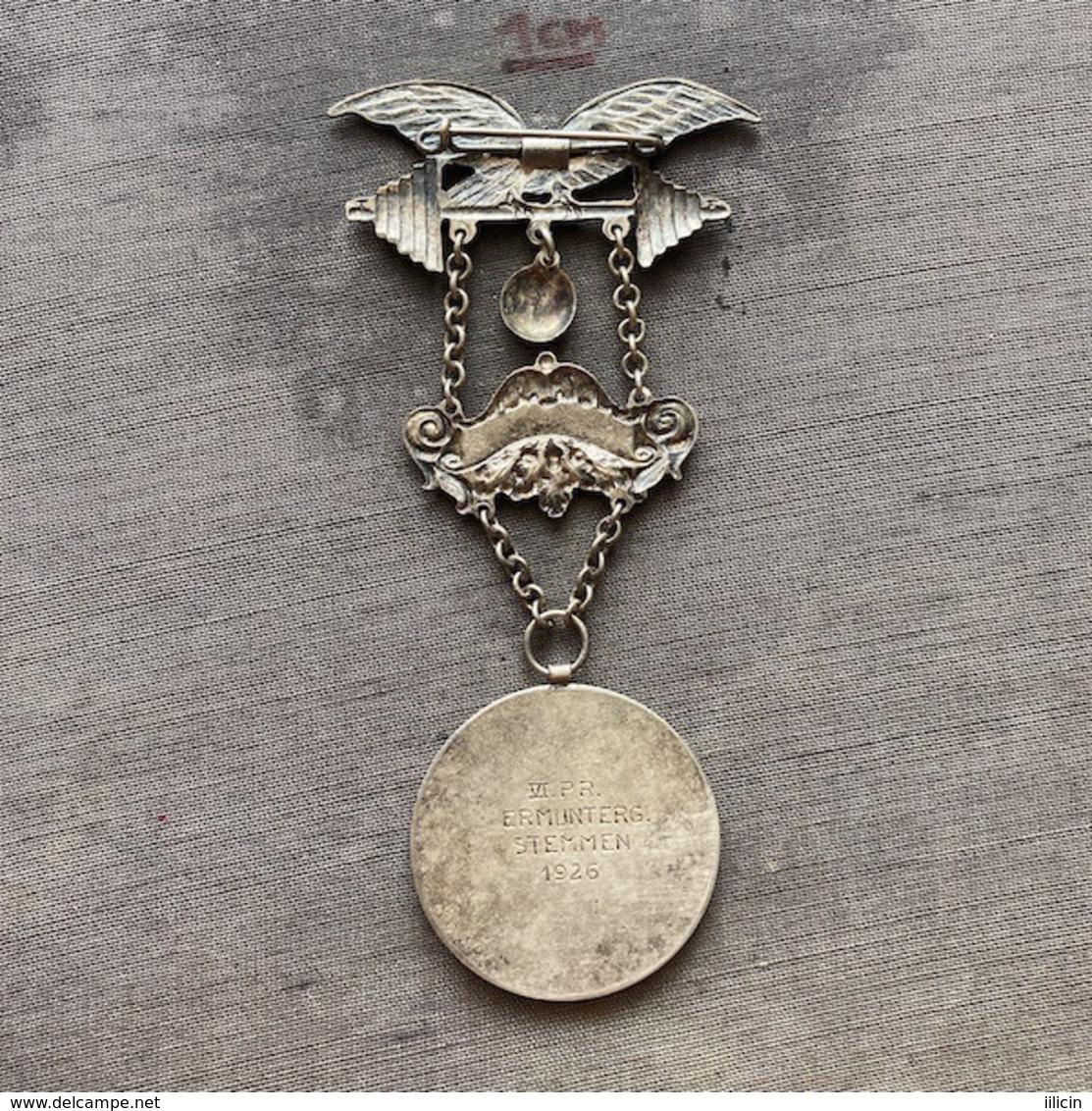Badge ZN009360 Weightlifting Wrestling Athletics Gymnastics Austria Österreichischen Arbeiter-Athleten-Bund 1911 1926 - Pesistica