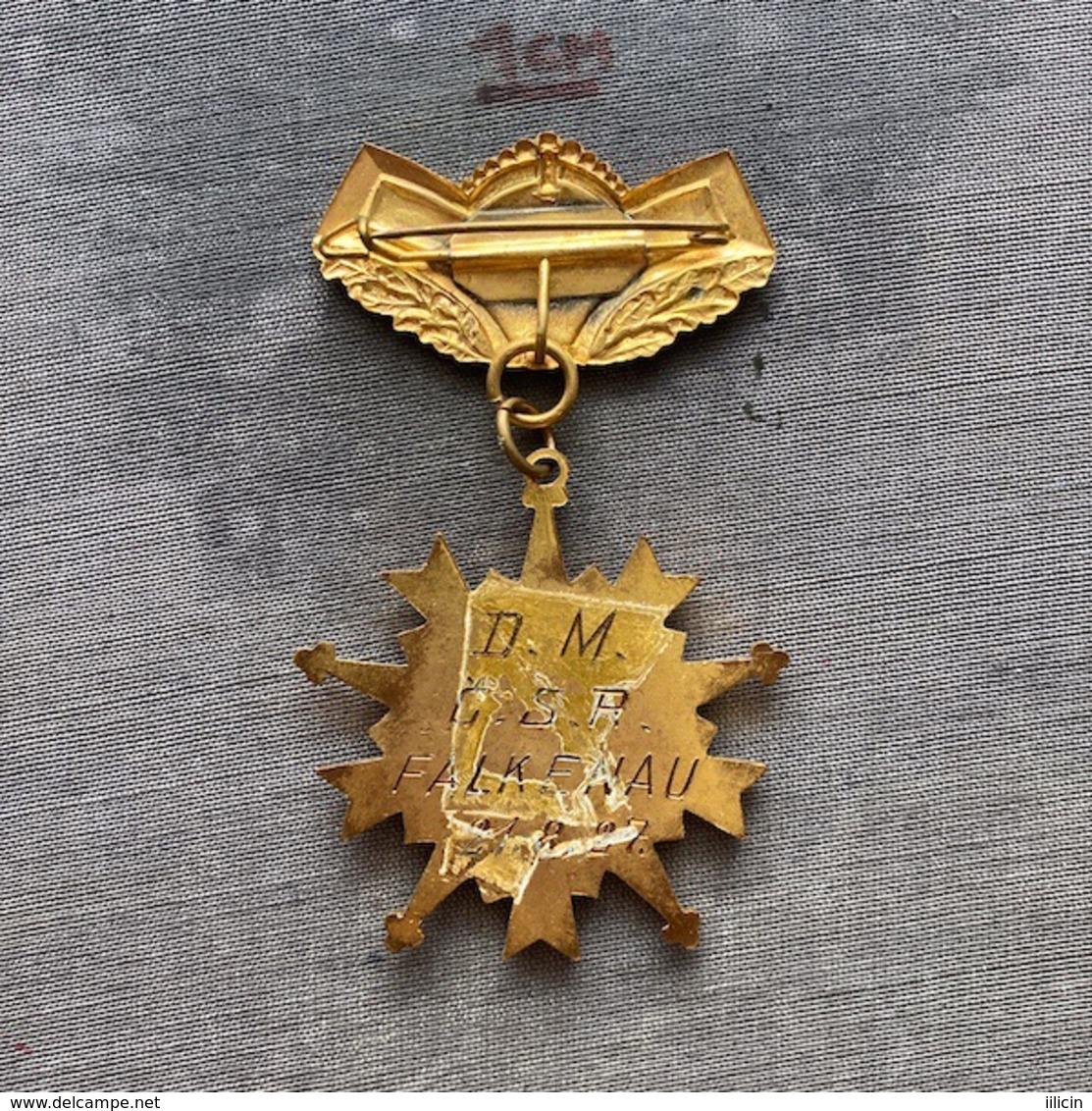 Badge Pin ZN009364 - Weightlifting Germany Falkenau 1927 - Pesistica
