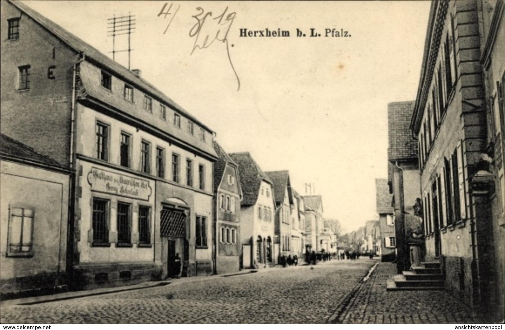 Cp Herxheim In Der Südlichen Weinstraße, Gasthaus Zum Bayrischen Hof, Inh. Georg Eichenlaub, Straße - Altri