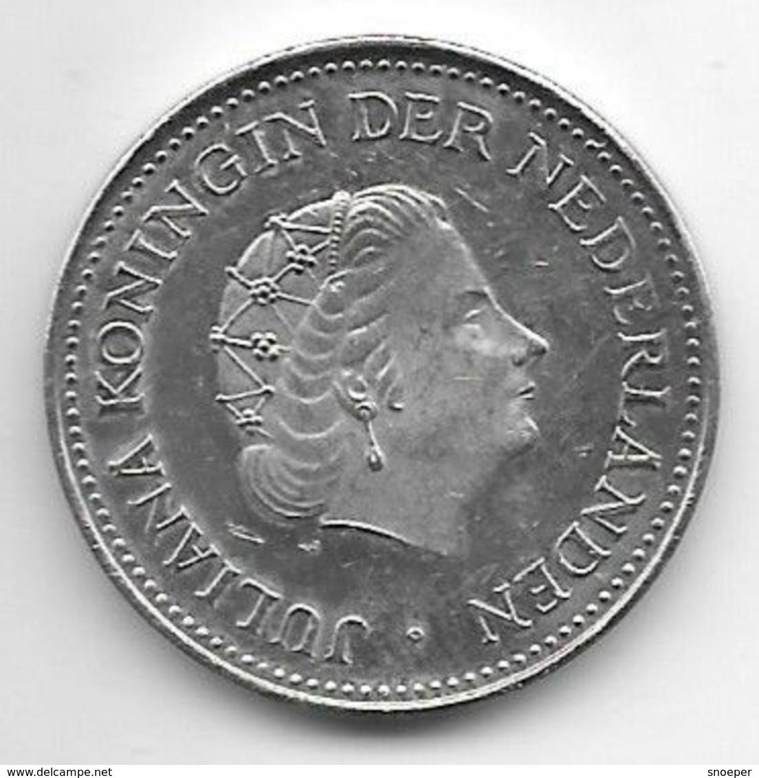 *netherlands Antilles  1 Gulden  1980 Star/cock  Km 12    Xf+/ms60 - Netherland Antilles