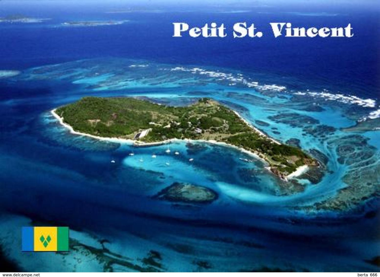 Saint Vincent And Grenadines Petit St. Vincent Aerial View New Postcard - Saint Vincent En De Grenadines