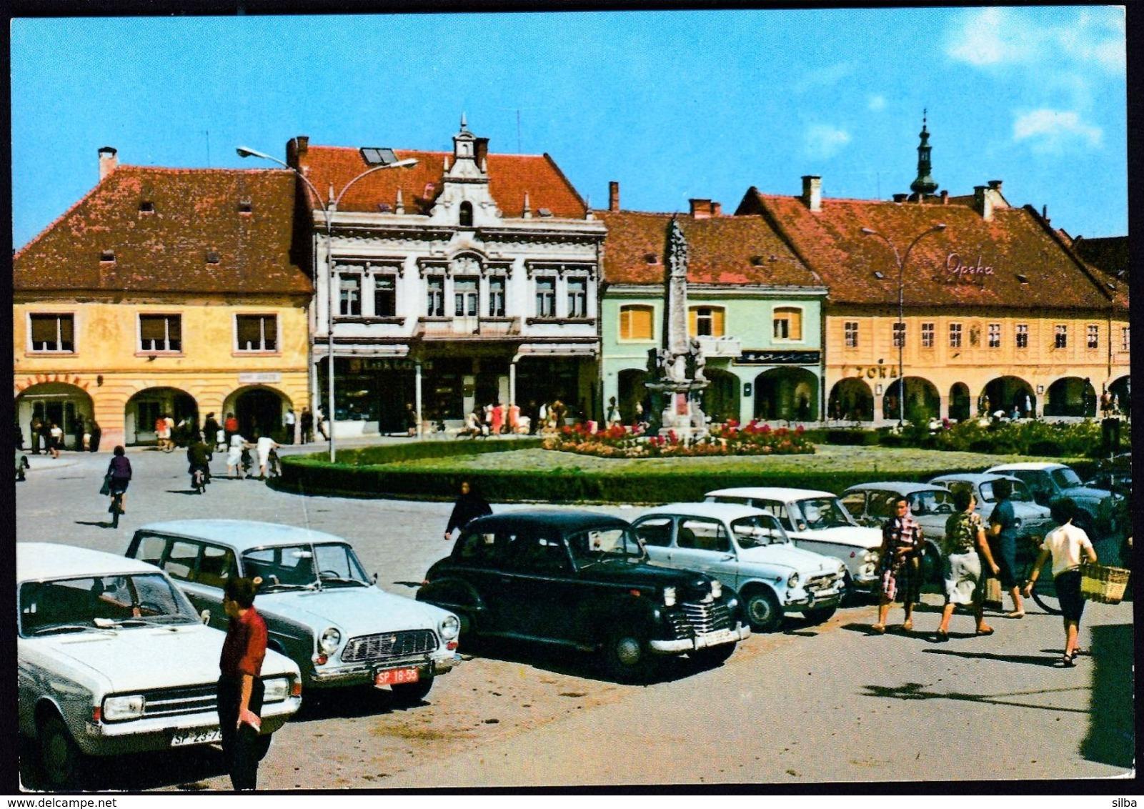 Croatia Slavonska Pozega 1971 / Square, Monument, Cars - Croacia