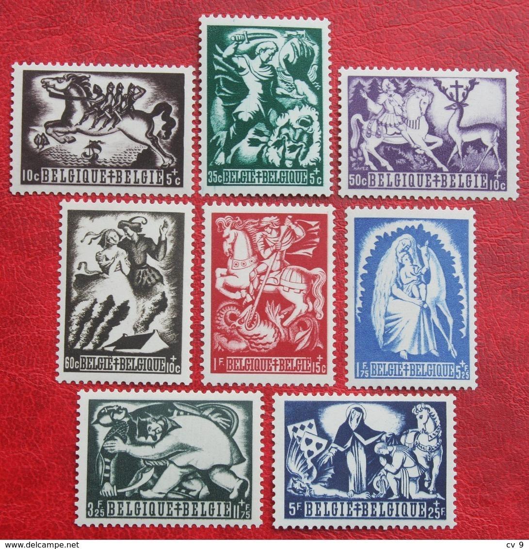 Legende Légendes Belges Tuberculose Zegels Complete Set 1944 OBP 653-660 (Mi 673-680) POSTFRIS/ MNH ** BELGIE BELGIUM - Ongebruikt
