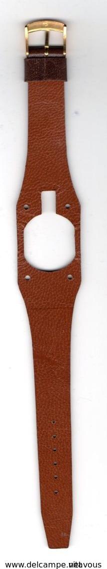 LIP Montre Ancienne Bracelet Cuir - Année 1970 + 2 Bracelets Cuir Neufs - Watches: Old