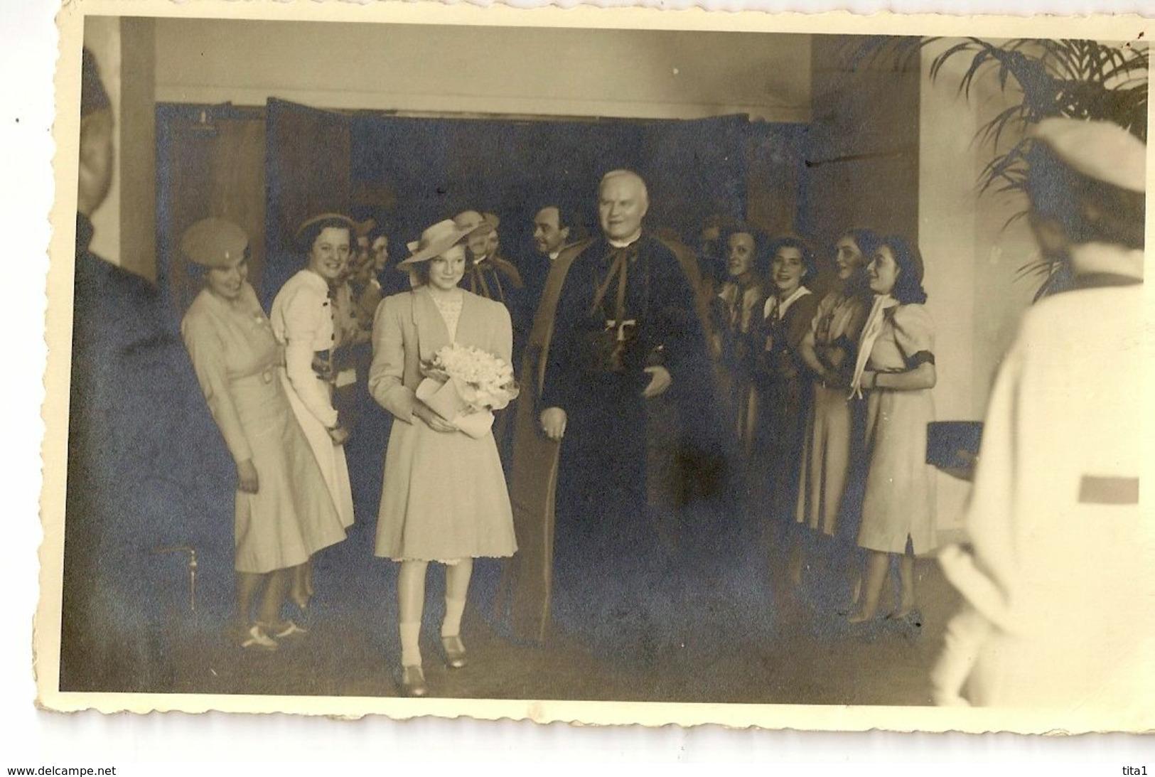83  - Cardinal Jozef Van Roey  Et Joséphine Charlotte - Familles Royales