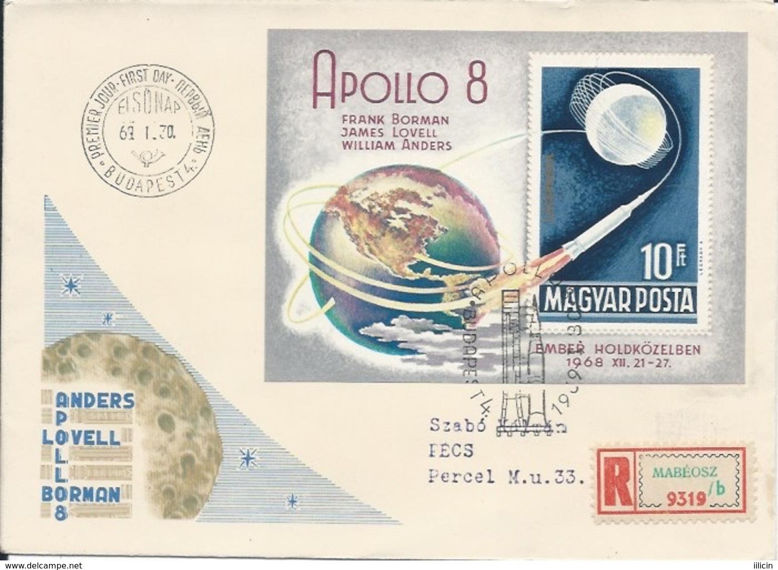 Letter FI000112 - Hungary USA Space Program Apollo 8 1968 - Unclassified