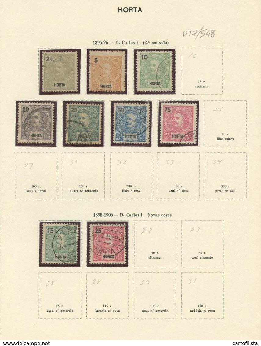 Used Stamps, Lot, ANGRA, AÇORES, D. Carlos, 1895-96 , 1898 - 1905  (Lot 548) - Horta