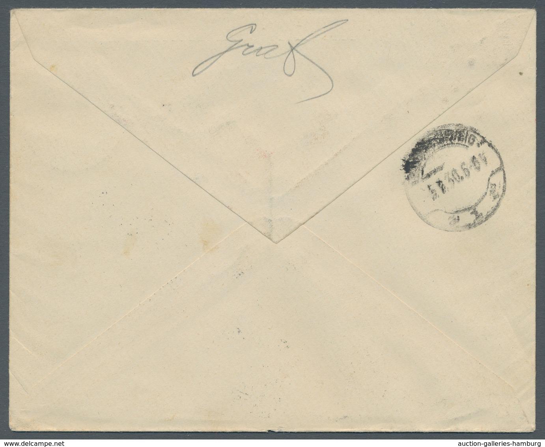 Liechtenstein: 1930, 1 Fr. Rötlichkarmin Im 4er Block Auf R-Eilboten-Luftpostbrief Von Vaduz, Roter - Covers & Documents