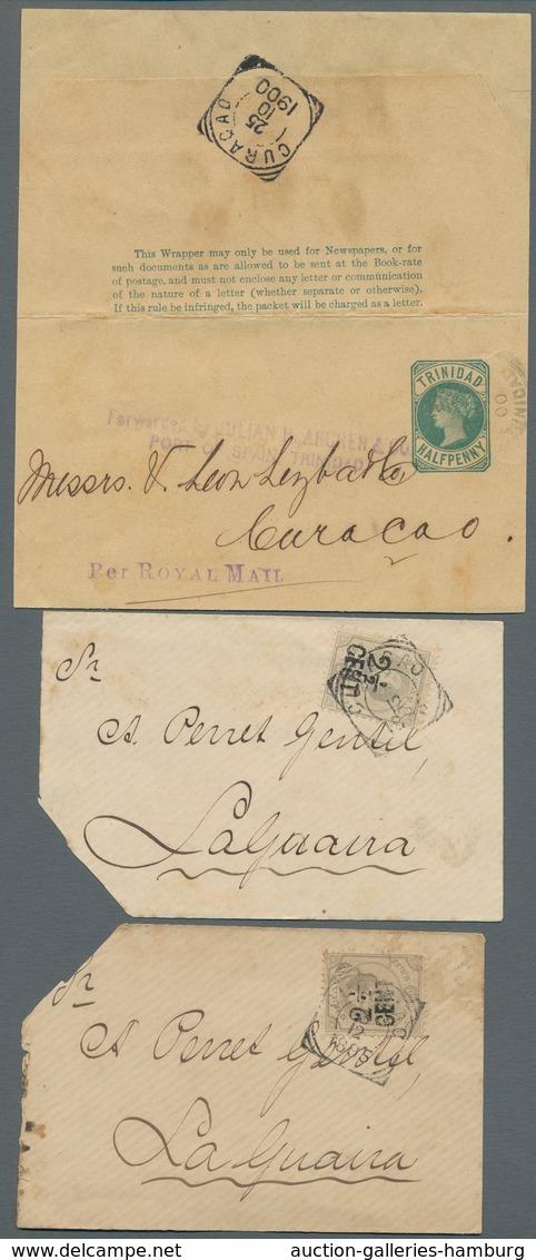 Curacao: 1894-1904, Partie Mit Einem Einschreibbrief Welcher über New York Nach Rom Gelaufen Ist, 7 - Curacao, Netherlands Antilles, Aruba