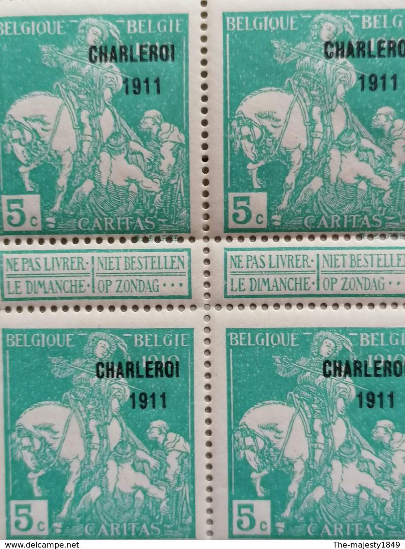 Belgique 1911 - Caritas 1911 - OBP / COB 105 Bloc De 25 Timbres - Cote OBP = 910.00 € - Neuf Sans Charnières ** - 1910-1911 Caritas