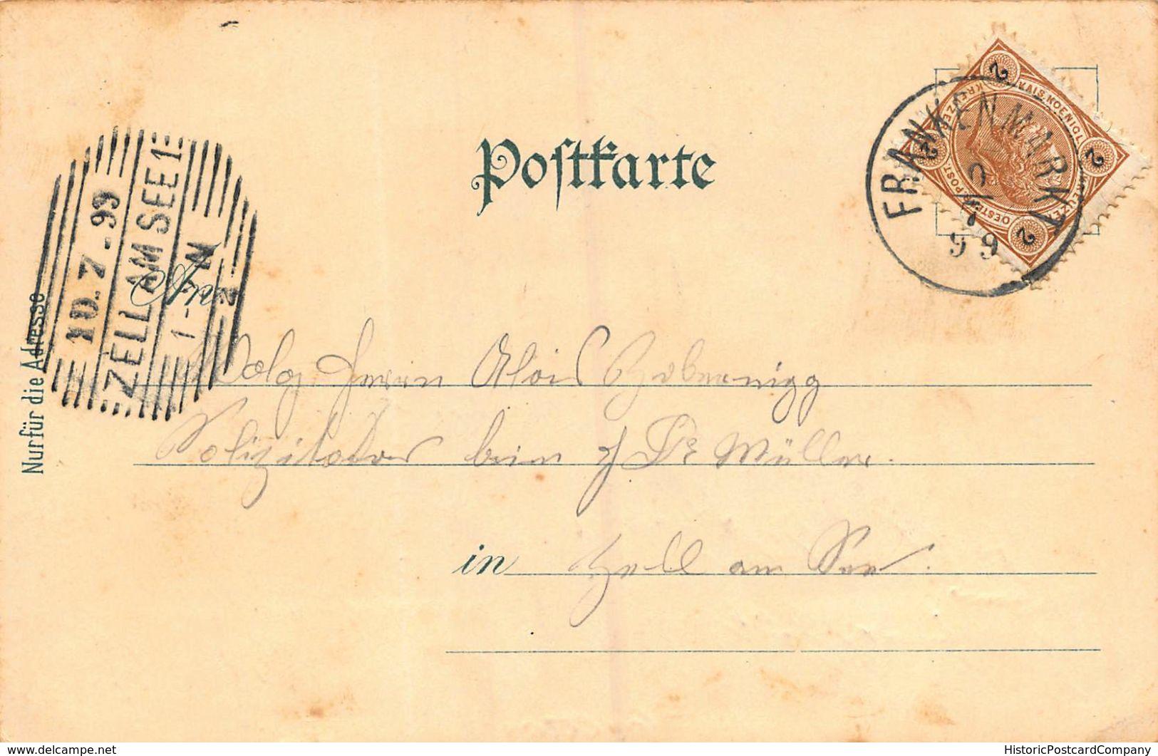 GRUSS Aus FRANKENMARKT AUSTRIA~PANORAMA + BAHNHOF~KARL SCHWIDERNOCH 1899 PHOTO POSTCARD 48066 - Other