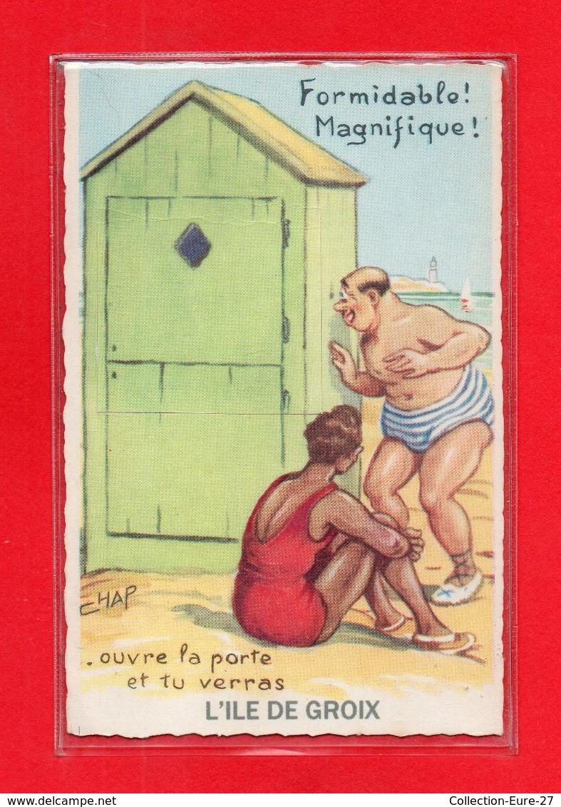 56-CPA ILE DE GROIX - CARTE A SYSTEME DE 10 VUES DE ILE DE GROIX - Groix