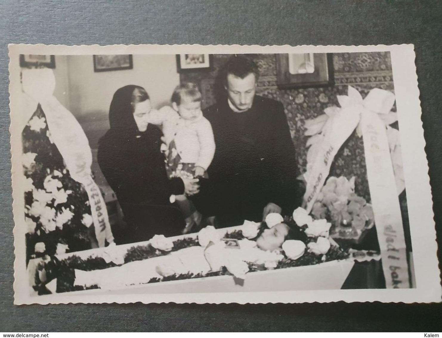 POST-MORTUM CHILD,ENFANT POST-MORTEL ORIGINAL PHOTO - Personnes Anonymes