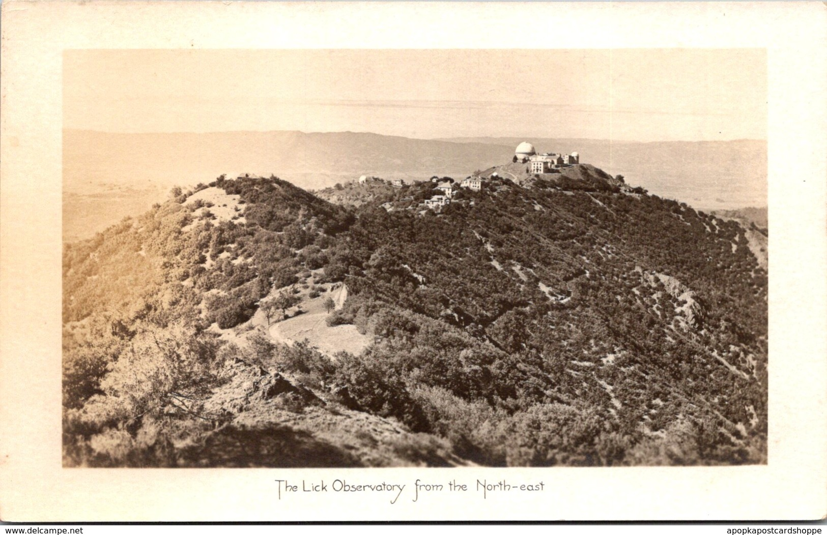 California Mount Hamilton The Lick Observatory From The Northeast Real Photo