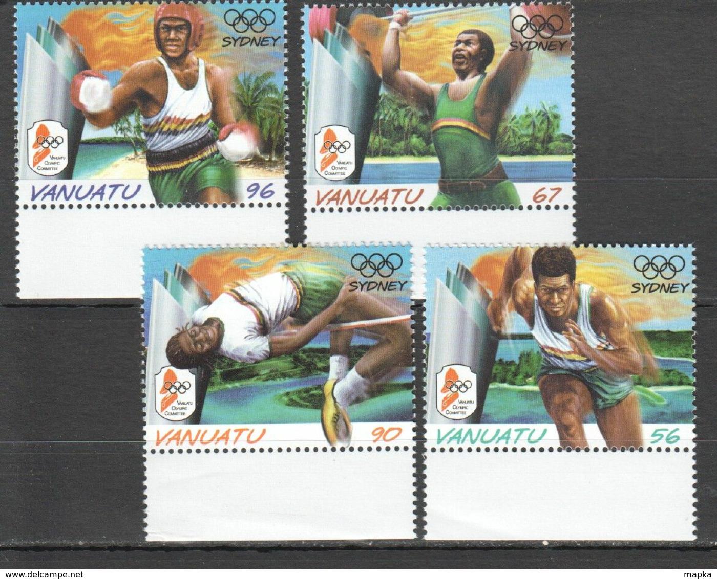 X160 VANUATU SPORT OLYMPIC GAMES SYDNEY 2000 #1121-4 1SET MNH - Estate 2000: Sydney