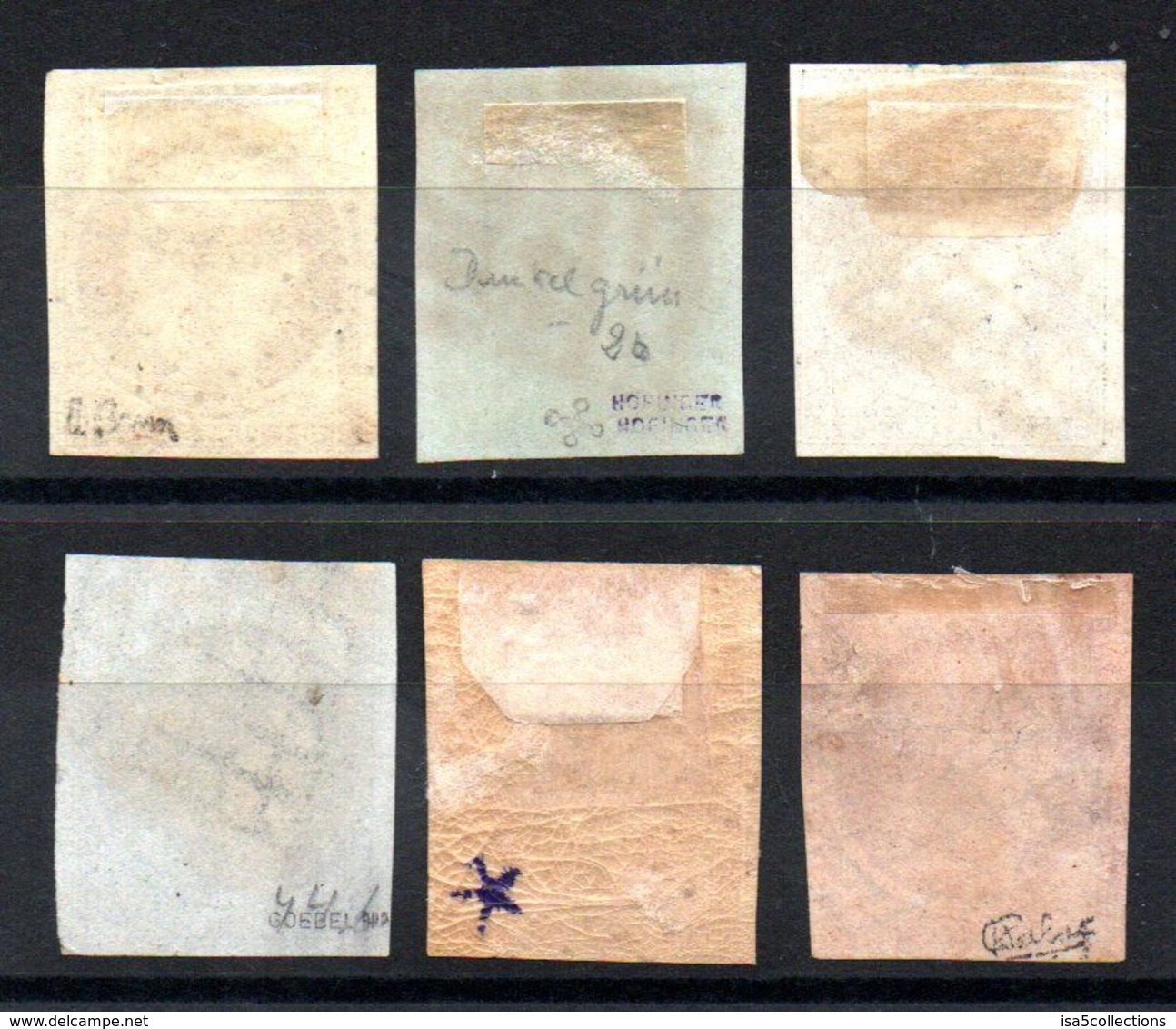 PROMO - YT N° 1a - 2b - 3a - 4 - 5 - 6 - Cote: 3335,00 € - Signatures Brun - Calves - Goebel - 1849-1850 Cérès