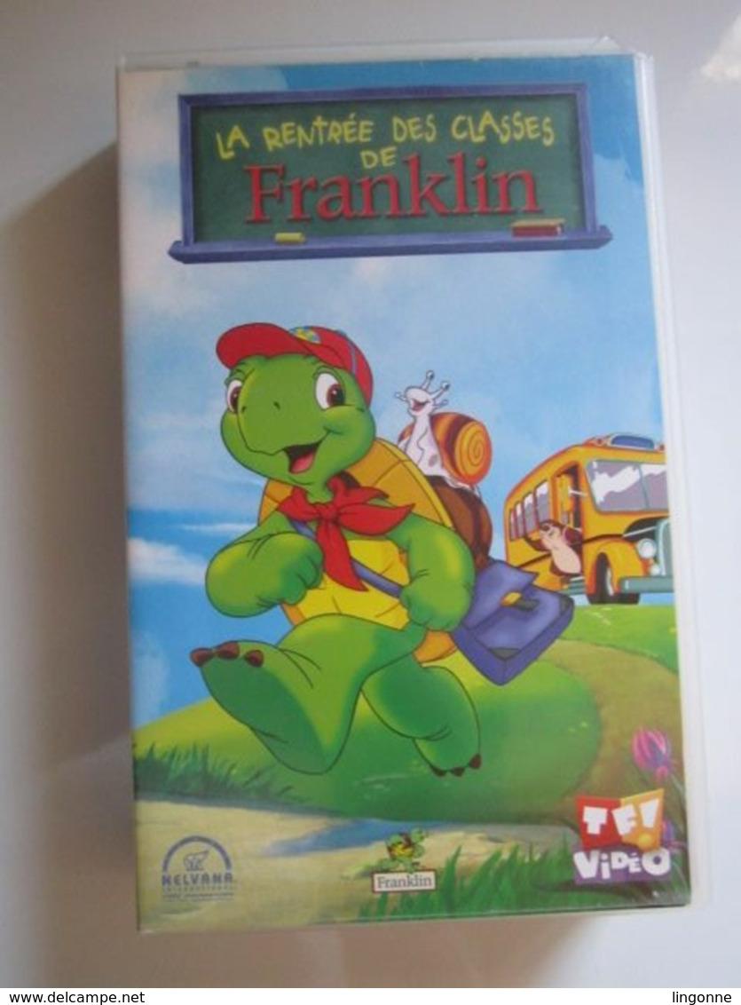 CASSETTE VIDEO VHS  FRANKLIN LA RENTREE DES CLASSES DE FRANKLIN (jaquette Abimée) - Dessins Animés