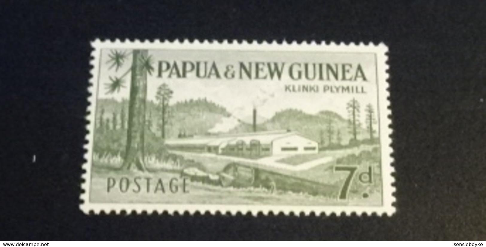 K33623 -stamp  MNH Paoua New Guinea - 1958 - SC. 142 - 7p Gray Green - Klinki Plymill - Peru