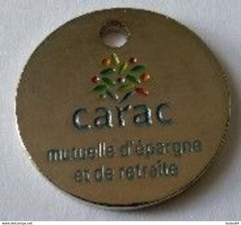 Jeton De Caddie -  Assurances - CARAC - Mutuelle D'épargne Et De Retraite - En Métal - - Jetons De Caddies