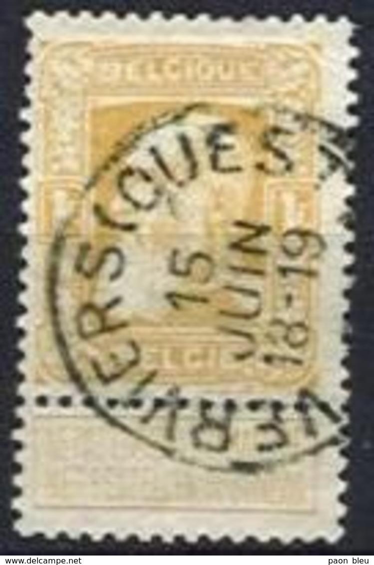 Belgique - Grosse Barbe N°79 Obl VERVIERS (OUEST) - 1905 Barba Grossa