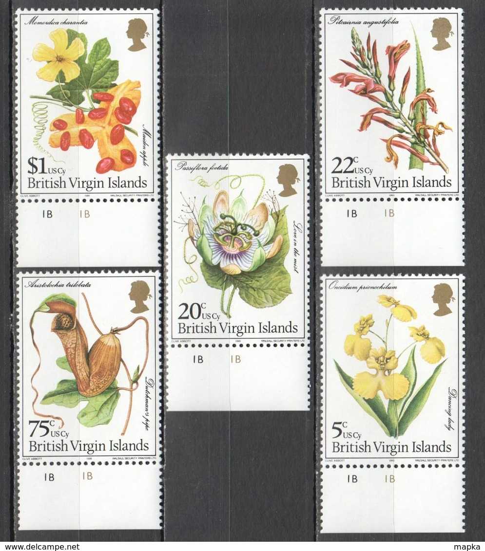 A718 1981 BRITISH VIRGIN ISLANDS NATURE FLORA FLOWERS #403-7 1SET MNH - Altri