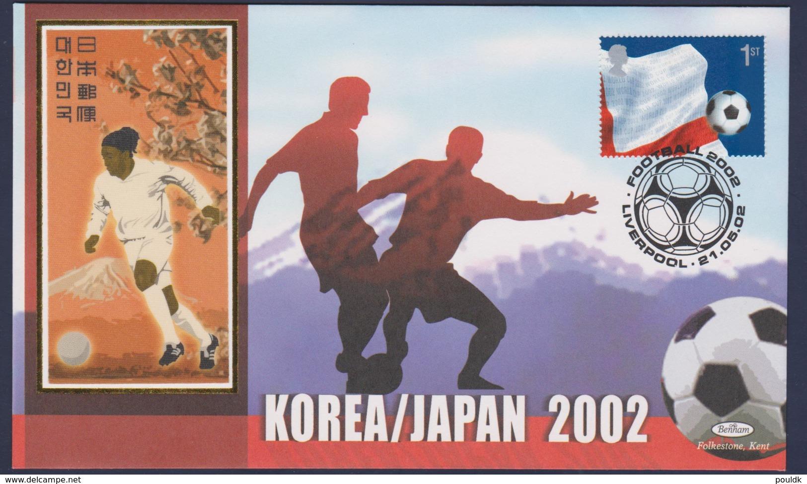 Great Britain FDC 2002 FIFA World Cup Football In Japan & Korea - Apecial Postmark (NB**LAR9-171) - 2002 – Corée Du Sud / Japon