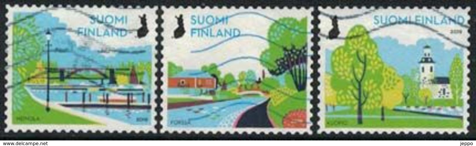 2019 Finland, Rural Parks, Complete Used Set. - Gebruikt