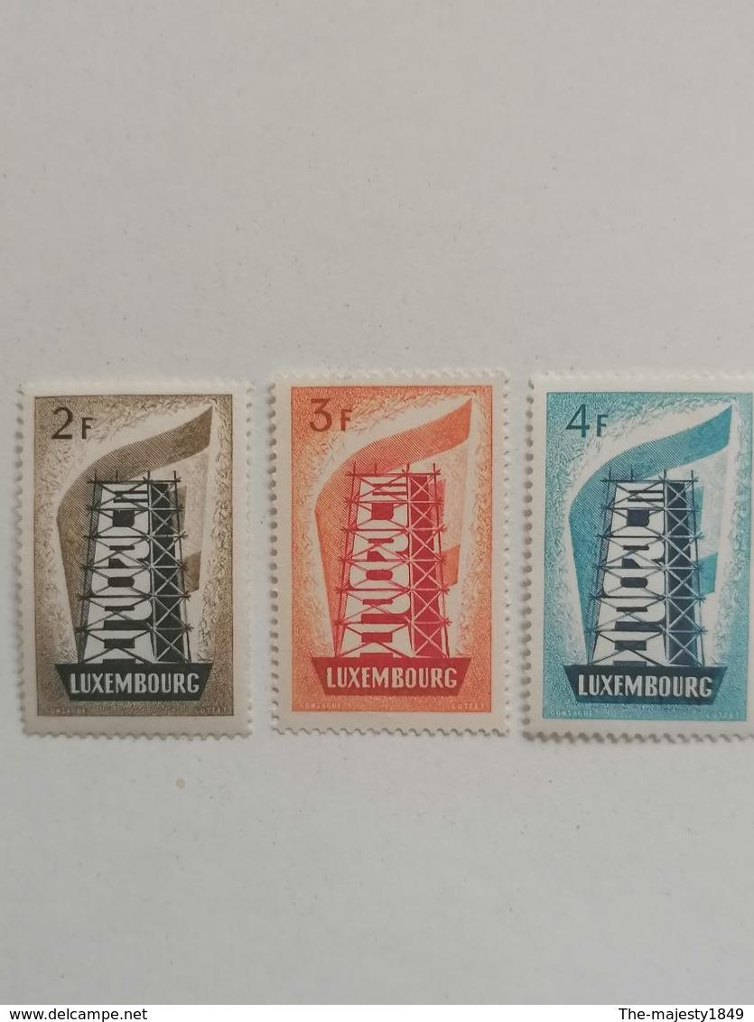 Luxembourg MNH ** Europa Cept 1956 Architecture Gomme D'origine Sans Charnières N° 555 N° 556 N° 557 - Nuevos