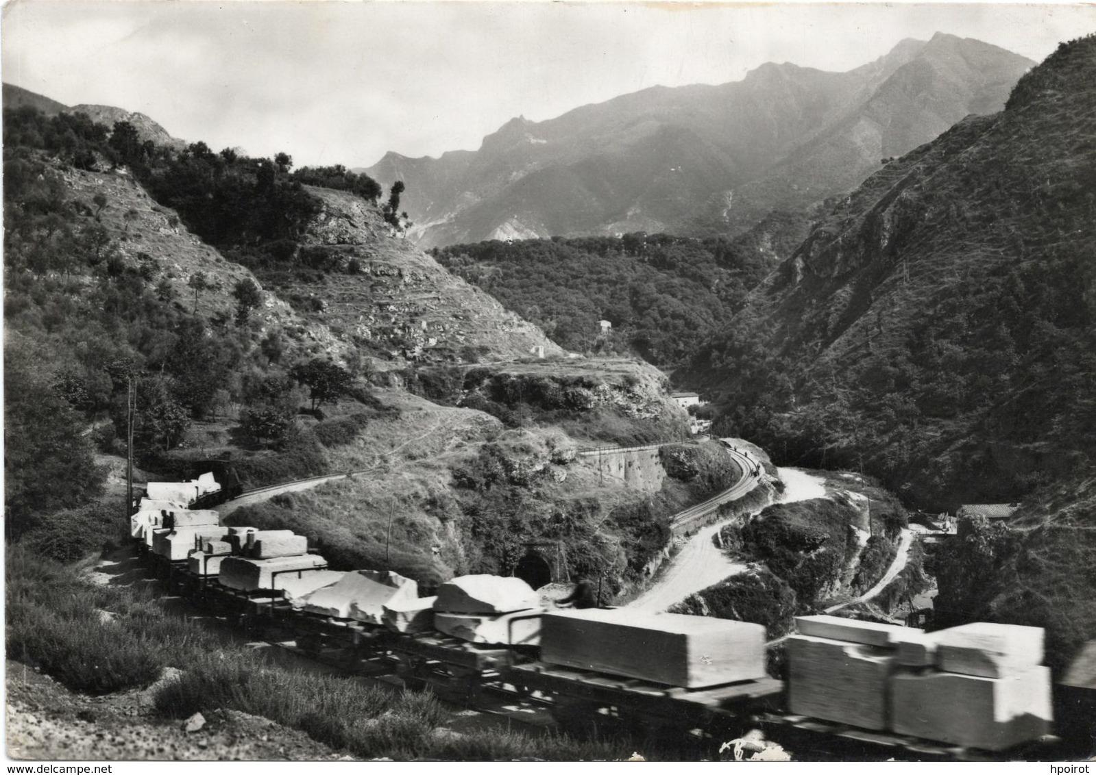 CARRARA - CAVE DI MARMO - FERROVIA MARMIFERA DAL TARNONE - TRENO - (rif. A60) - Carrara