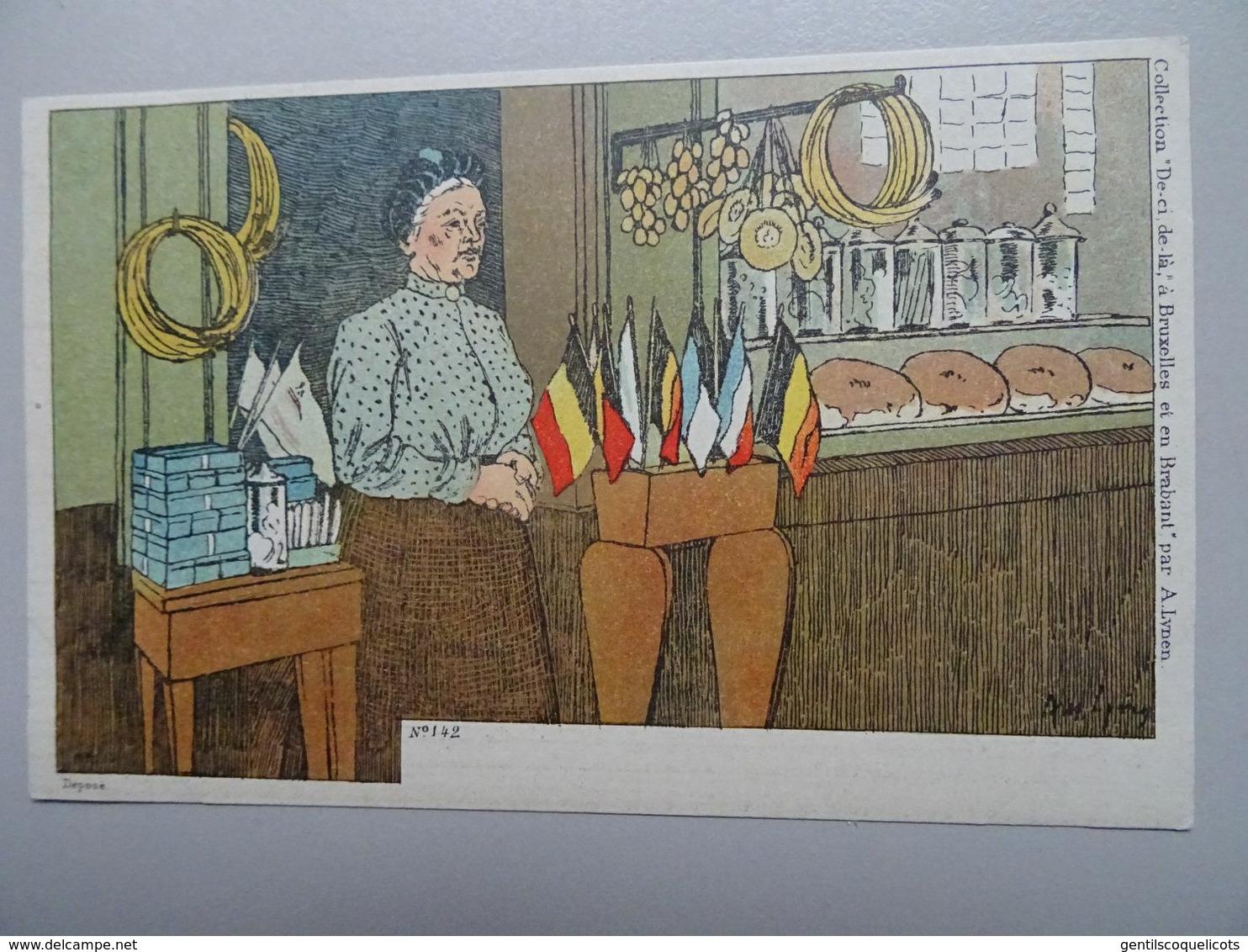 """Carte Postale Amédée Lynen """"De-ci De-là"""" à Bruxelles Et En Brabant N°142 Objets De Piété (Hal - Halle) - Lynen, Amédée-Ernest"""