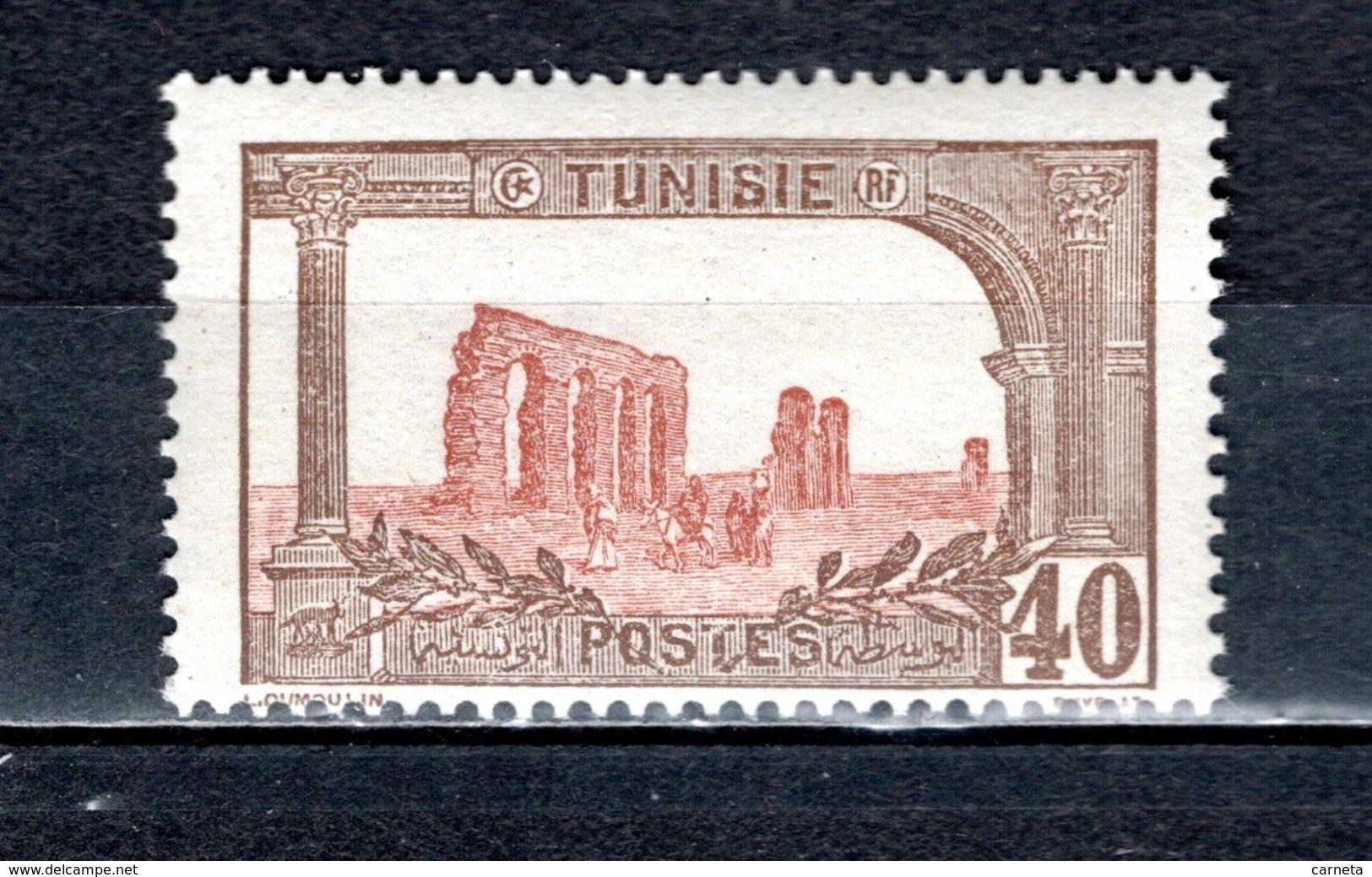 TUNISIE  N° 38  NEUF SANS CHARNIERE  COTE 9.30€    AQUEDUC ROMAIN - Unused Stamps