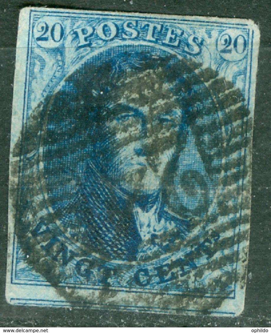 Belgique   Cob 11A Ob  TB Et Margé - 1858-1862 Medallones (9/12)