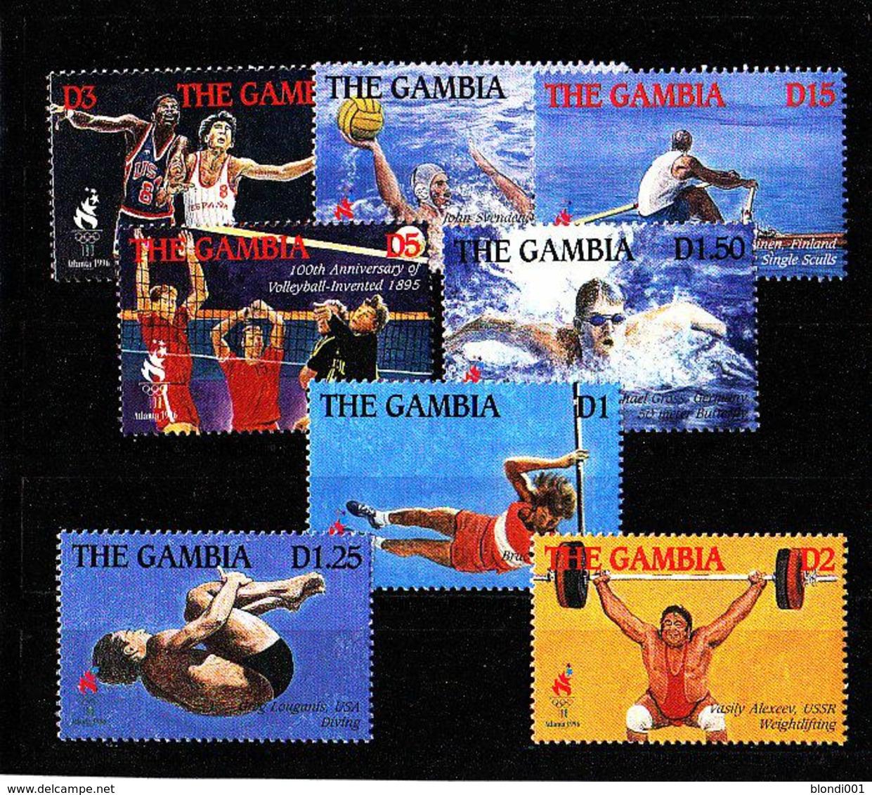 Olympics 1996 - Basketball - Weightlifting - GAMBIA - Set 8v MNH - Estate 1996: Atlanta
