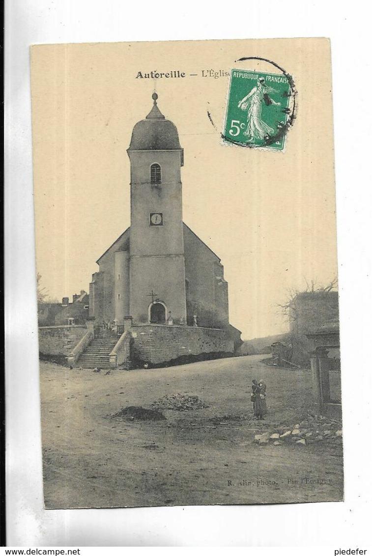 70 - AUTOREILLE - L' Eglise -  Femme Avec Enfant. - Sonstige Gemeinden