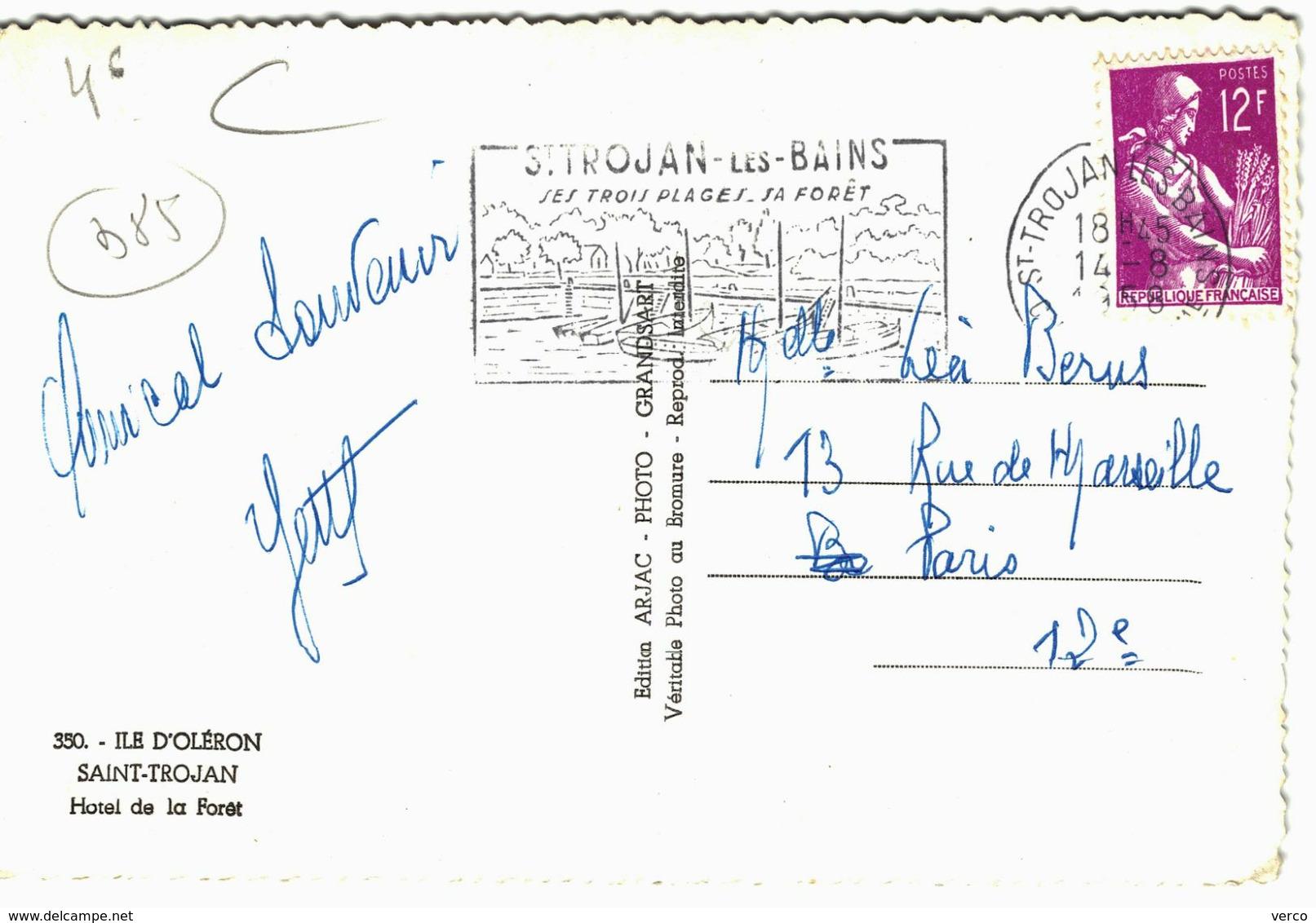 Carte POSTALE Ancienne De  ILE D'OLERON - SAINT TROJAN, Hôtel De La Foret - Ile D'Oléron