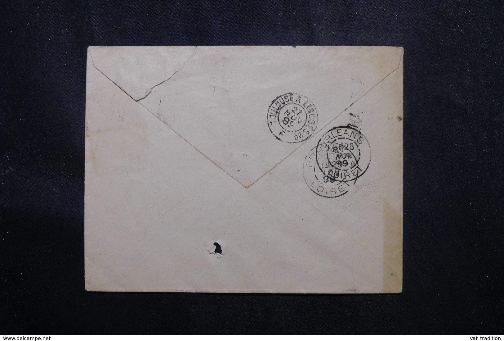 ESPAGNE - Enveloppe Pour La France En 1889 - L 70184 - Cartas