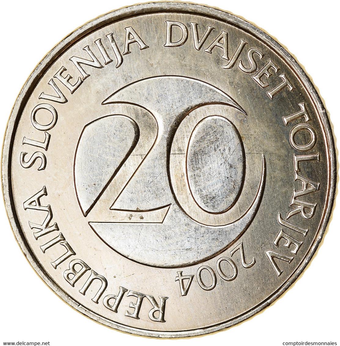 Monnaie, Slovénie, 20 Tolarjev, 2004, Kremnica, SPL, Copper-nickel, KM:51 - Slovenia