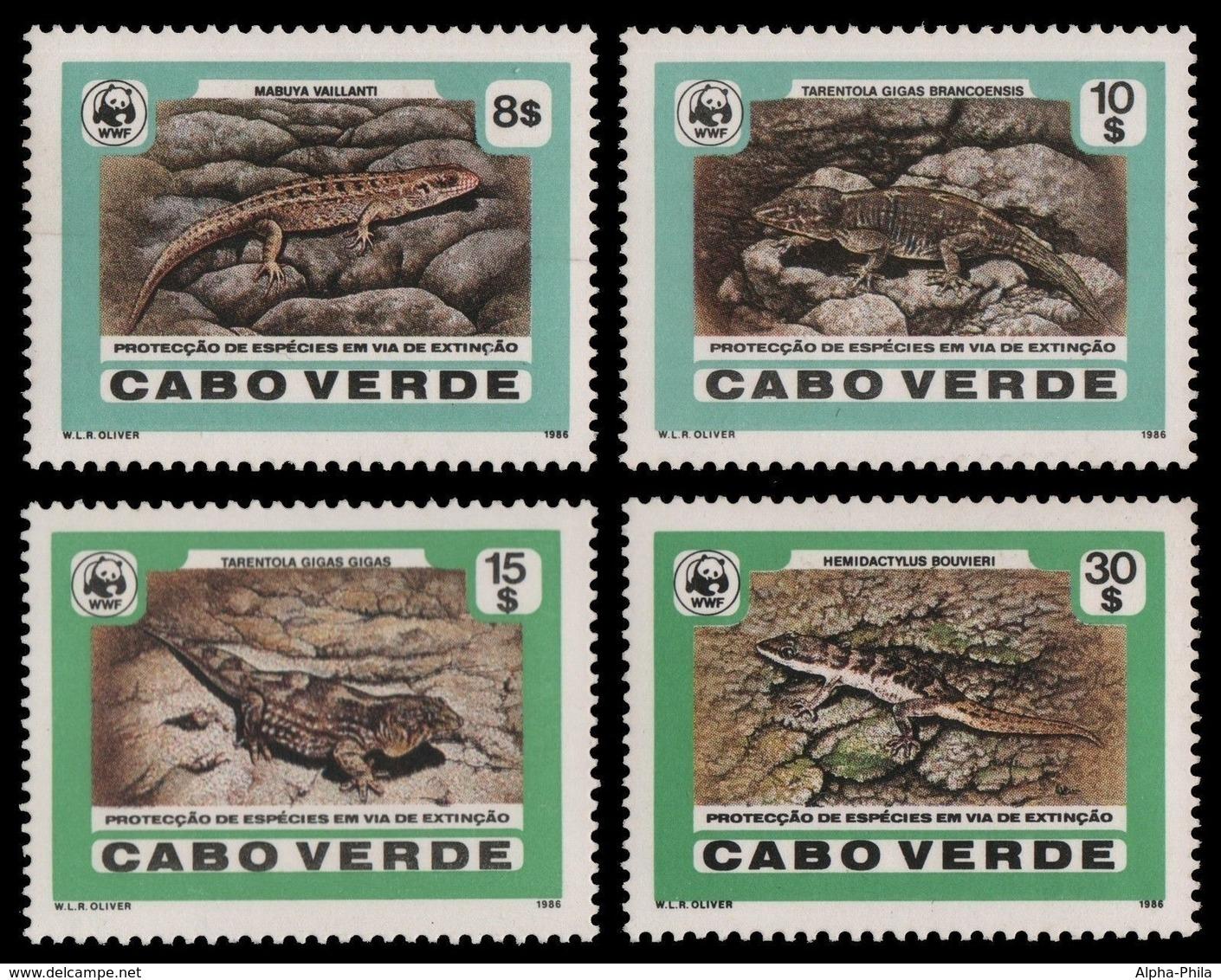 Kap Verde 1986 - Mi-Nr. 500-503 ** - MNH - Reptilien / Reptiles - Isola Di Capo Verde