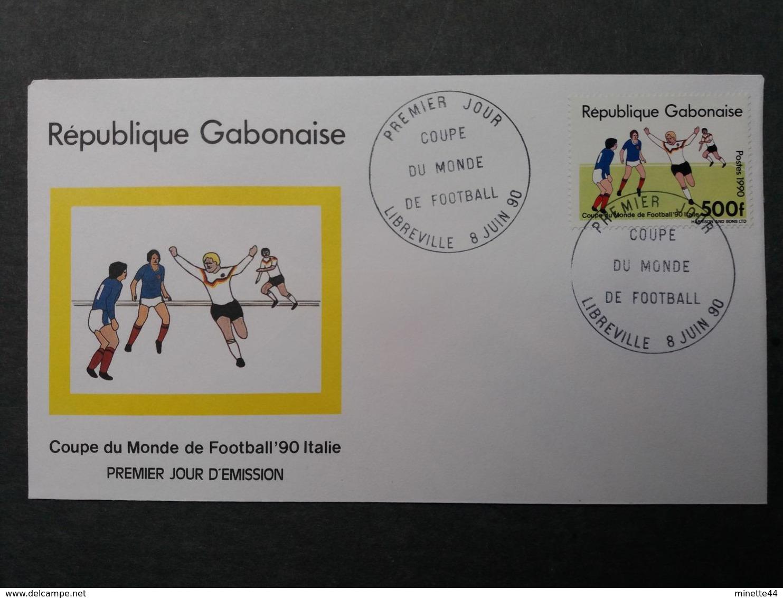 GABON GABONAISE 1990 FDC WORLD CUP NON EMIS  500 F RARE   FOOTBALL SOCCER FUSSBALL CALCIO FOOT SPORT - Unclassified