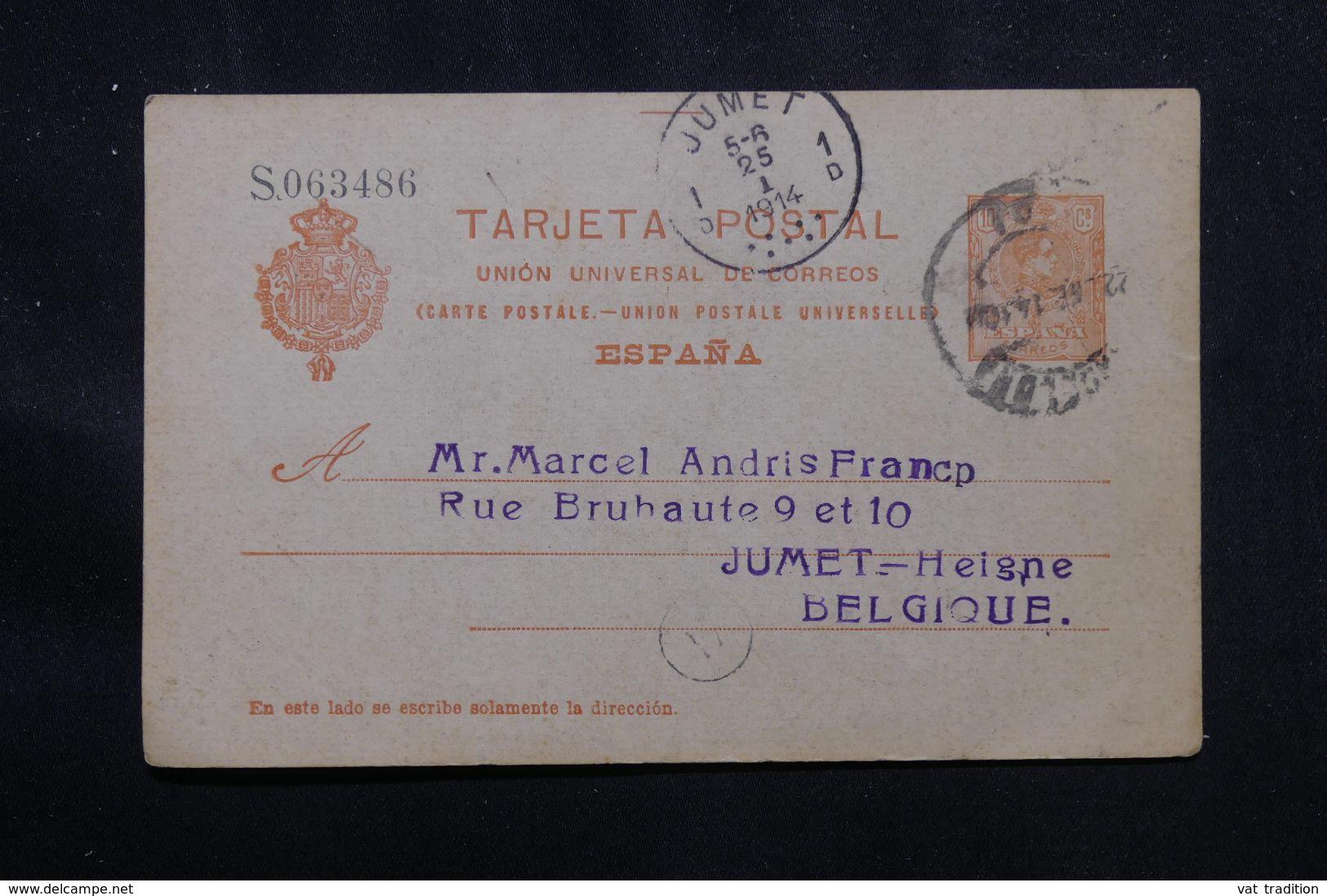 ESPAGNE - Entier Postal De Barcelone Pour La Belgique En 1914 - L 70619 - 1850-1931