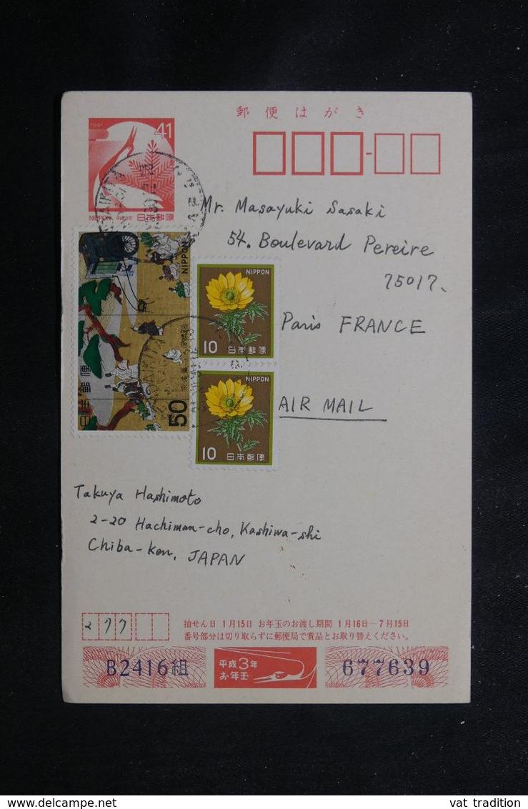 JAPON - Entier Postal + Complément De Kashiwa Pour Paris - L 70672 - Postales