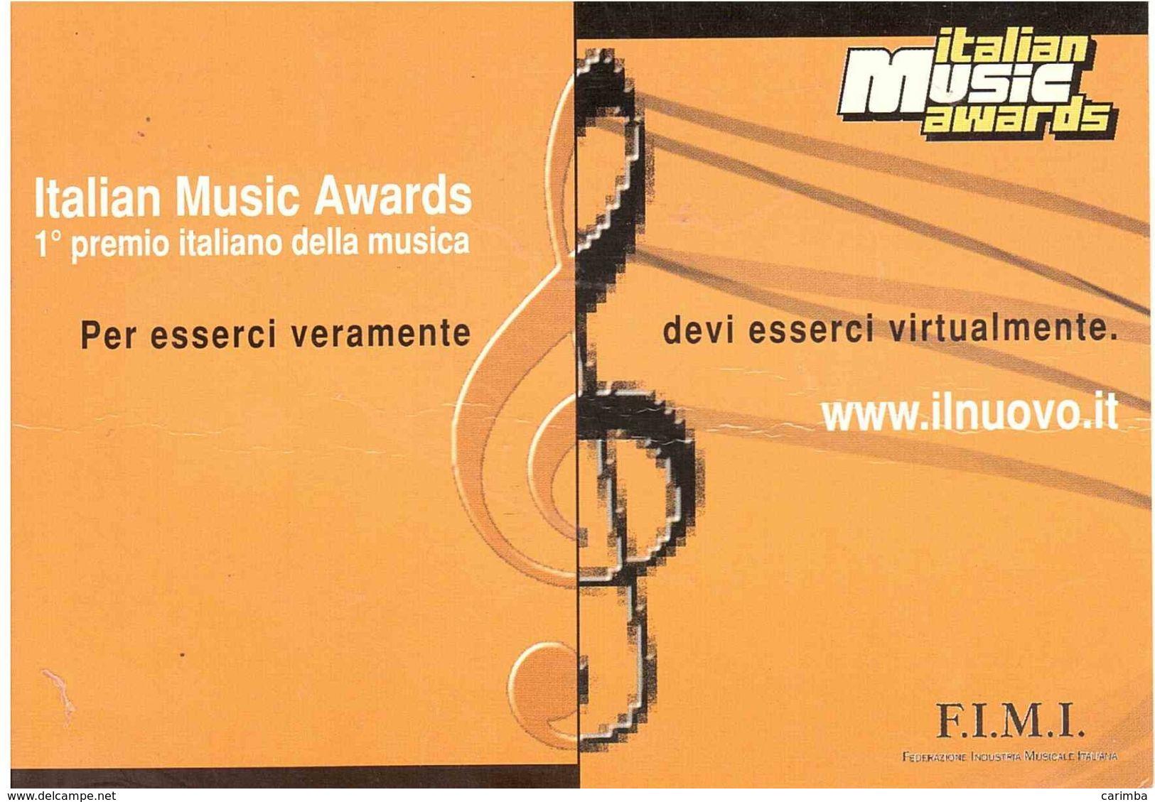 2020 TARIFFA B EUROPA SU CARTOLINA PUBBLICITARIA ITALIAN MUSIC AWARDS - 2011-...: Poststempel