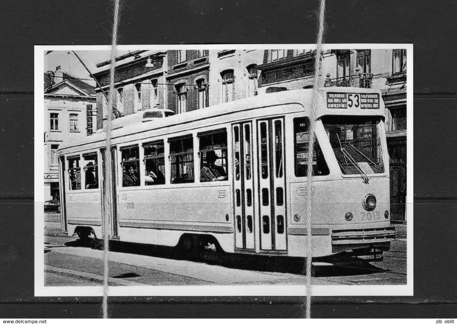 PHOTO TRAM 53 VILVOORDE REPRO MOTRICE 7019 - Strassenbahnen