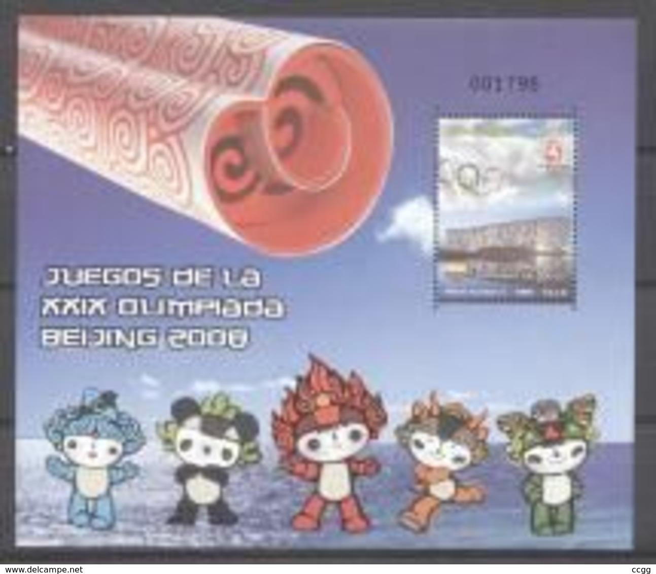 Olympische Spelen  2008 , Colombia  - Blok  Postfris - Estate 2008: Pechino