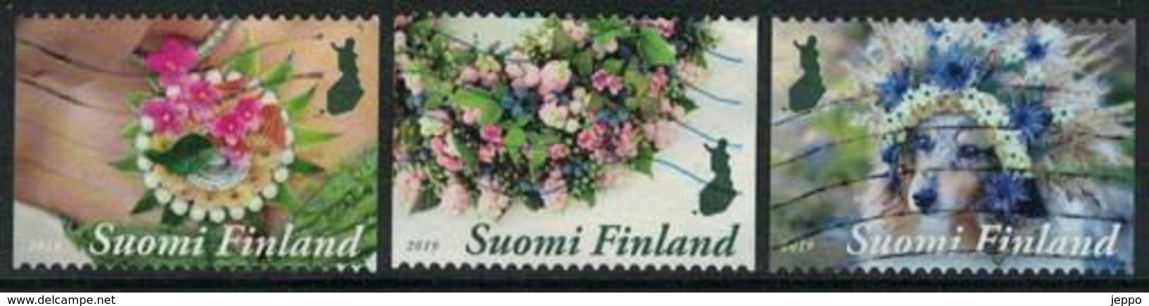 2019 Finland, Floral Artistry, Complete Used Set. - Gebruikt