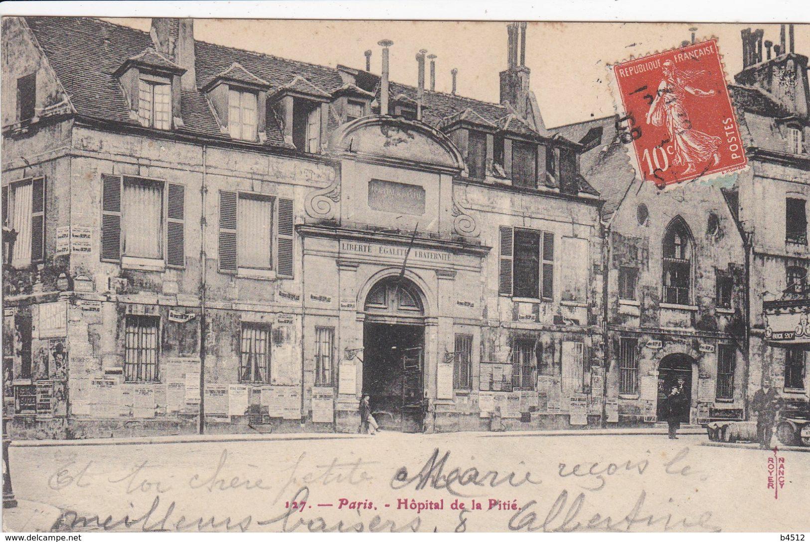 75 PARIS  Hôpital De La Pitié ,façade - District 13