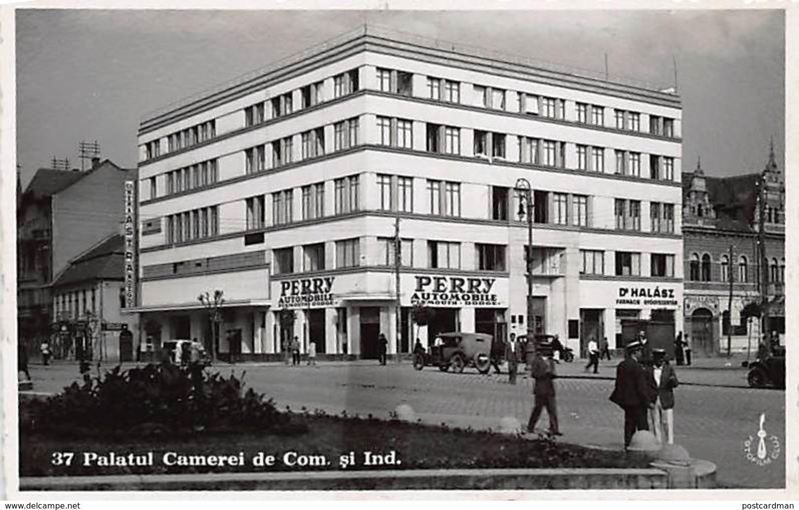 Romania - CLUJ - Palatul Camerei De Com. Si Ind. - Perry Automobil - REAL PHOTO. - Rumania